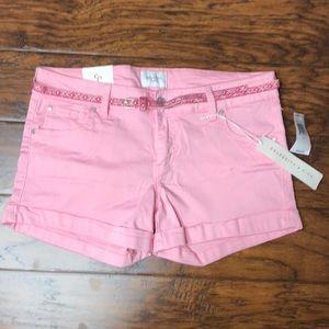 Celebrity pink stretchy light pink shorts New!